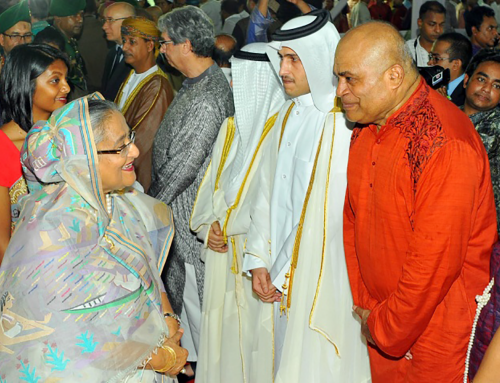 Director General exchanges Eid greetings with H.E. Sheikh Hasina, Prime Minister of the Peoples' Republic of Bangladesh at Ganabhaban in Dhaka on Eid Day.
