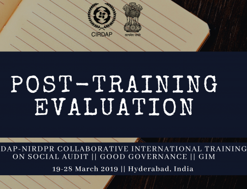 Post-Training Evaluation of CIRDAP-NIRD&PR International Programmes