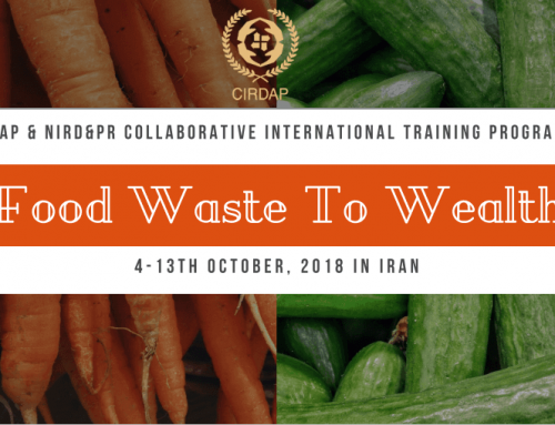 Int. Training on Food Waste to Wealth: Post-Harvest to Market