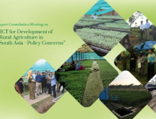 "Regional Expert Consultation Meeting on ""ICT for Development of Rural Agriculture in South Asia–Policy Concerns"""