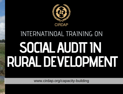Int. Training on Social Audit in Rural Development Programmes