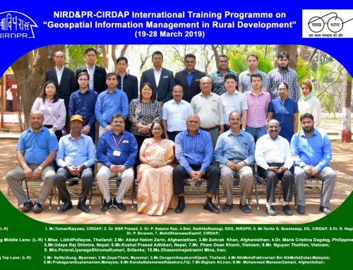 Int. Training on Geospatial Information Management (GIM) in Rural Development Held