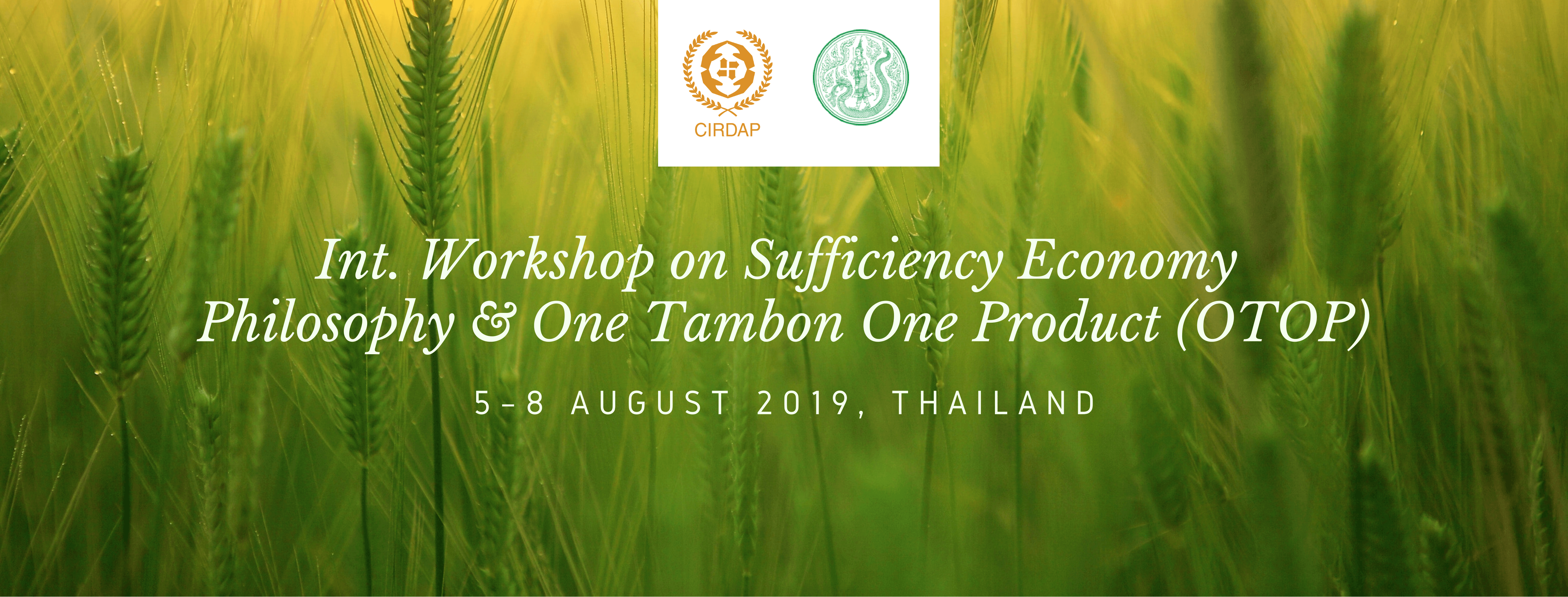 Int  Workshop on Sufficiency Economy Philosophy and One Tambon One