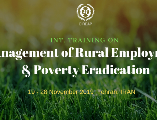 Int. Training on  Management of Rural Employment & Poverty Eradication