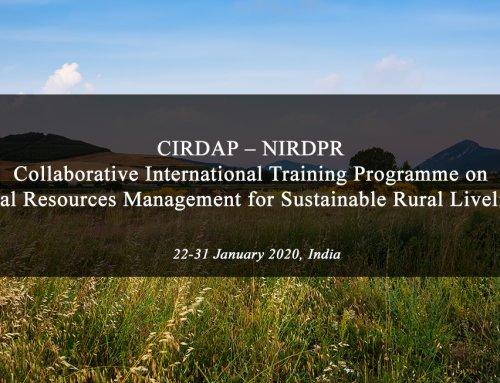 CIRDAP – NIRDPR Collaborative International Training Programme on Natural Resources Management for Sustainable Rural Livelihoods