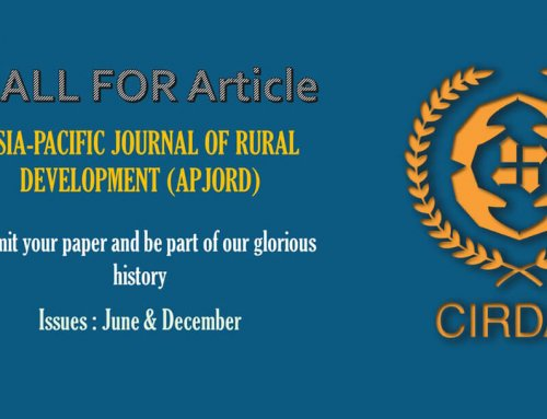 Asia-Pacific Journal of Rural Development (APJORD), is a peer reviewed half-yearly academic journal, of CIRDAP