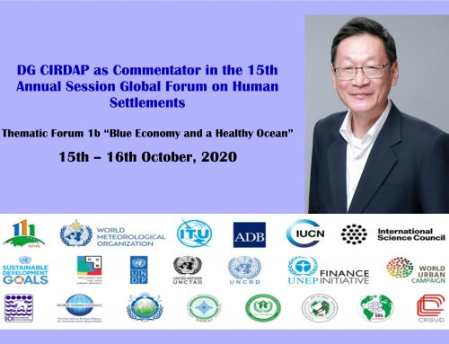 DG CIRDAP as Commentator in the 15th Annual Session Global Forum on Human Settlements