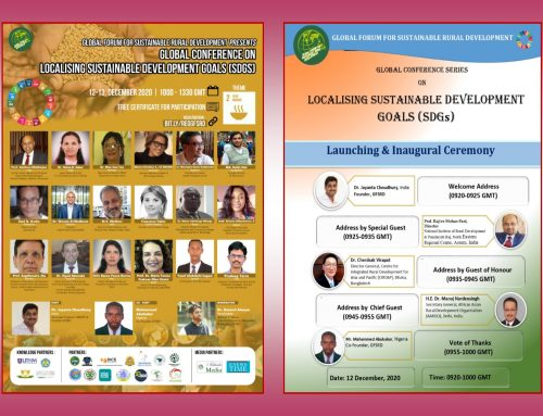 The Global Conference Series on Localizing Sustainable Development Goals – GFSRD