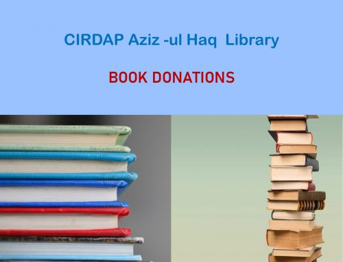 Book Donation by CIRDAP Aziz -ul Haq Library  Centre on Integrated Rural Development for Asia and the Pacific (CIRDAP)