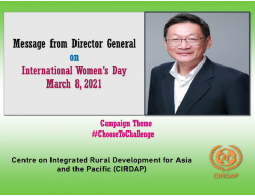 Message from DG. CIRDAP, on the Int. Women's Day. 8th March2021
